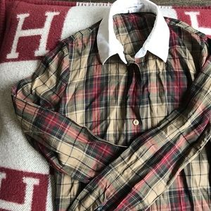 As worn by Emma Watson - Carven plaid blouse 36